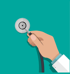 medical stethoscope or phonendoscope vector image vector image