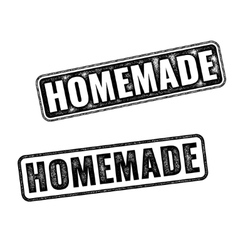 Two realistic Homemade grunge rubber stamps vector image vector image