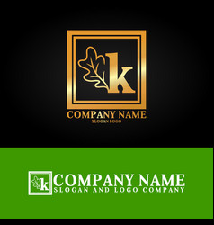 03 oak letter k vector image