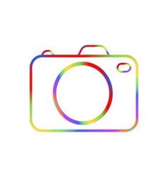 Abstract digital camera on a white background vector image