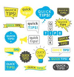 advice quick tips helpful tricks and suggestions vector image