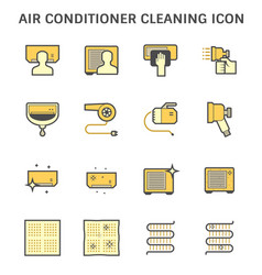 air conditioner and air compressor cleaning icon vector image