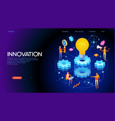 banner innovation concept vector image