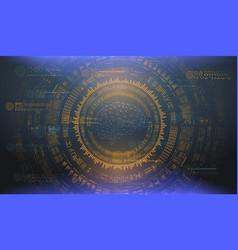 big data abstract visualization futuristic vector image