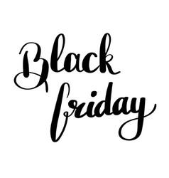black friday - handdrawn sale vector image