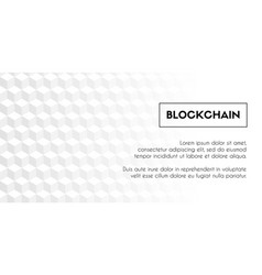 Blockchain geometrical white background template vector