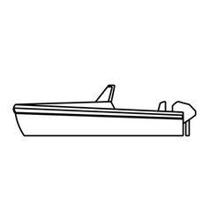 Boat icon cartoon isolated black and white vector