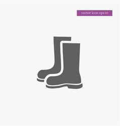 boots icon gardening vector image