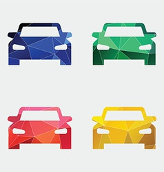 Car icon abstract triangle vector