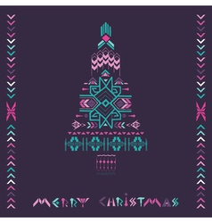 Christmas Tree - Tribal Vintage Aztec Theme vector