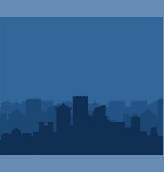 city silhouette megapolis silhouette skyscrapers vector image