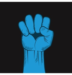 Clenched fist hand Victory revolt concept vector