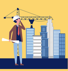 Construction people work vector