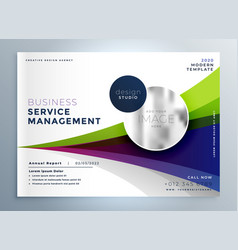 creative business brochure flyer presentation vector image
