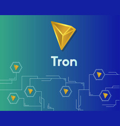 Cryptocurrency tron blockchain circuit networking vector