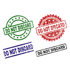 Damaged textured do not discard stamp seals vector