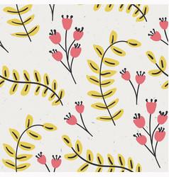 Delicate stylized flourish leaf graphic motif tile vector
