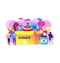 Donation concept vector