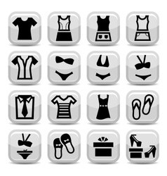 Fashion clothes icons vector