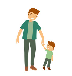 father and son playing in the park vector image