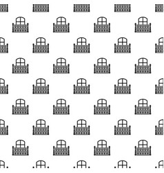 flat balcony icon simple style vector image