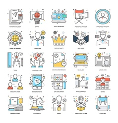 Flat Color Line Icons 5 vector