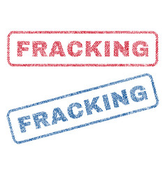 Fracking textile stamps vector