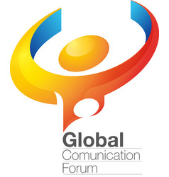 global communication forum vector image