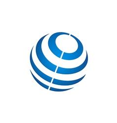 Globe sphere stripe communication technology logo vector