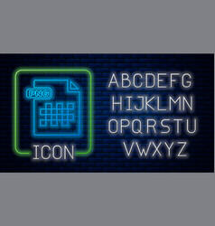 Glowing neon png file document download png vector