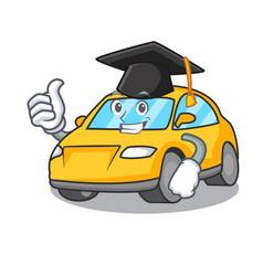Graduation taxi character cartoon style vector