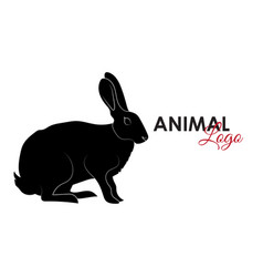 hare rabbit icon logo symbol vector image