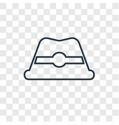 hat concept linear icon isolated on transparent vector image