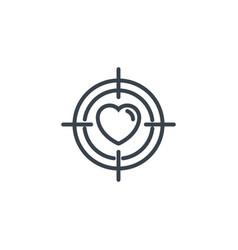 Heart focus vision icon line design vector