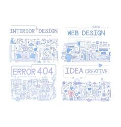 interior design error 404 web design idea vector image