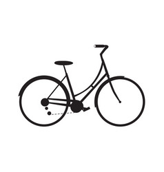 isolated bicycle icon vector image