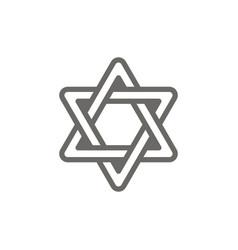 judaism symbol icon spiritual concept vector image