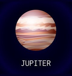 jupiter planet icon cartoon style vector image