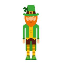 leprechaun irish character icon vector image