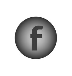 Letter f flat web icon vector