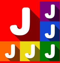 letter j sign design template element set vector image