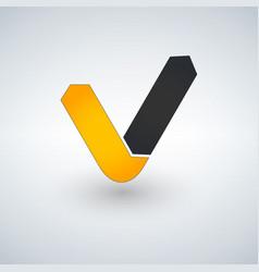 Letter v logo check mark logo concept vector