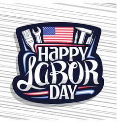 logo for american labor day vector image