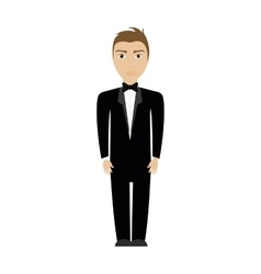 Man suit male person hair avatar icon vector
