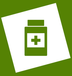 medical container sign white icon vector image