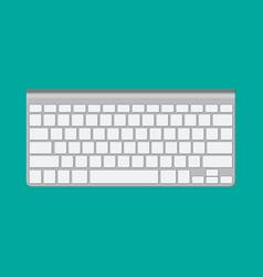 Modern aluminum computer keyboard vector