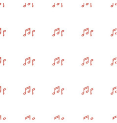 note icon pattern seamless white background vector image