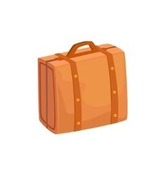 Old-School Man Leather Handbag Case Item From vector image