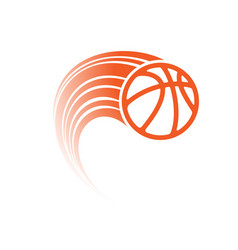 Orange basketball with track vector