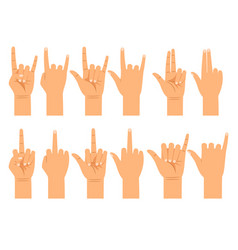 People hand signals different gestures vector